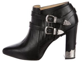 Toga Embellished Pointed-Toe Ankle Boots