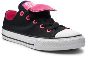 Converse Girls' Chuck Taylor All Star Double Tongue Accent Sneakers