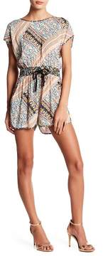 BCBGeneration Patchwork Tie-Back Romper