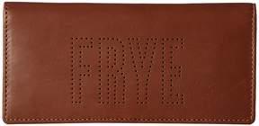 Frye Carson Logo Perf Slim Wallet Wallet Handbags