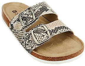 White Mountain Double Strap Slip-on Sandals - Helga