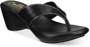 Callisto Athena Alexander by Abby Thong Wedge Sandals Women's Shoes