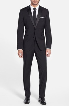 BOSS Men's The Stars/glamour Trim Fit Wool Tuxedo