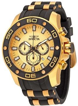 Invicta Pro Diver Chronograph Gold Dial Men's Watch
