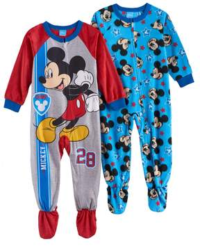 Disney Disney's Mickey Mouse Toddler Boy Fleece One-Piece Footed Pajama Set