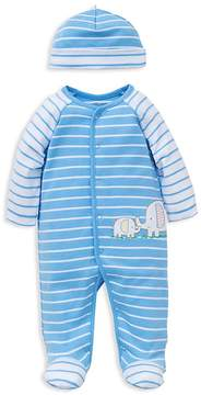 Little Me Boys' Striped Elephant Footie & Beanie Set - Baby