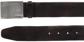 DSQUARED2 40mm Crackled Leather Belt