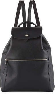 Longchamp Veau Foulonne Leather Backpack