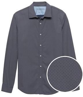 Banana Republic Grant Slim-Fit Luxe Poplin Dot Shirt