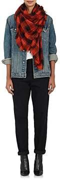Saint Laurent Women's Plaid Wool-Blend Scarf