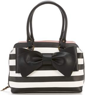 Betsey Johnson Pop Color Stripe Satchel