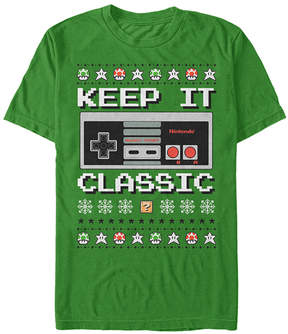 Fifth Sun Nintendo Heather Kelly Bit Xmas Stack Tee - Men's Regular