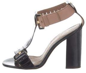 Ted Baker Patent Leather Ankle Strap Sandals