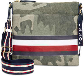 Tommy Hilfiger Carmel Camo Canvas Crossbody