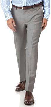 Charles Tyrwhitt Light Grey Slim Fit Twill Business Suit Wool Pants Size W32 L34