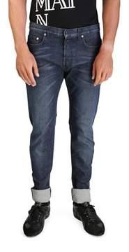 Christian Dior Men's Bleu Marine Slim Fit Denim Jeans Pants Blue.