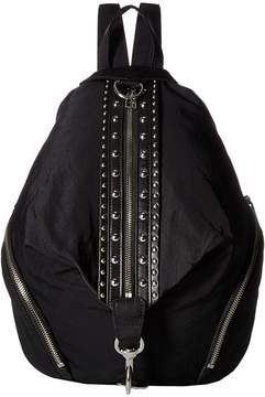 Rebecca Minkoff Julian Nylon Backpack w/ Studs Backpack Bags - BLACK - STYLE