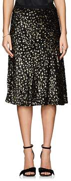 Barneys New York Women's Metallic Silk-Blend Midi-Skirt