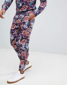 Asos Super Skinny Pants In Bright Floral Print Co-Ord