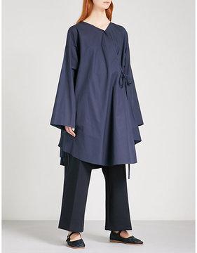 Chalayan Oversized cotton-poplin shirt dress