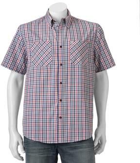 Coleman Men's Classic-Fit Textured Plaid Performance Button-Down Shirt