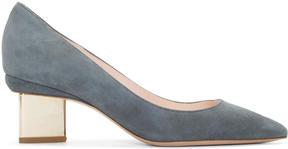 Nicholas Kirkwood Grey Suede Prism Heels