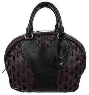 Miu Miu Bicolor Leather Bowler Bag