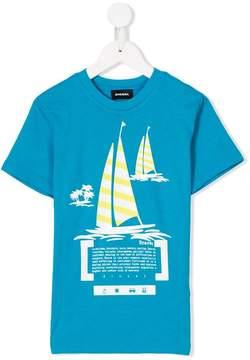 Diesel boat print T-shirt