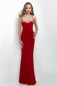 Blush Lingerie Sweetheart Paneled Jersey Sheath Gown 11012