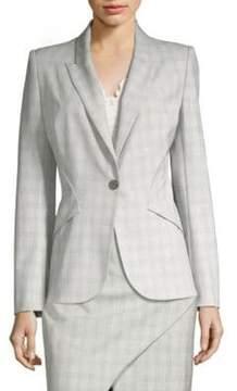 Elie Tahari Allegra Button-Front Jacket