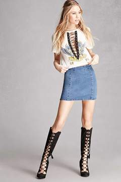 Forever 21 MIA Faux Suede Lace-Up Boots