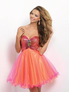 Blush Lingerie Strapless Embellished Cocktail Dress 9660