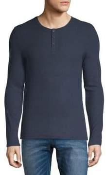 ATM Anthony Thomas Melillo Long Sleeve Henley T-Shirt