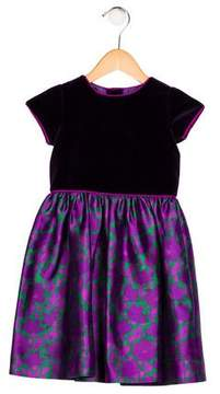 Oscar de la Renta Girls' Floral Dress