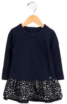 Lili Gaufrette Girls' Tweed-Paneled A-Line Dress