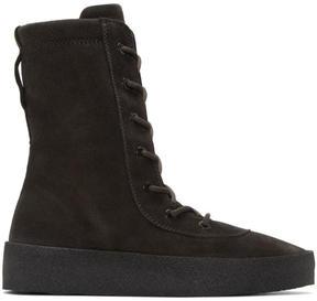 Yeezy Black Crepe Boots