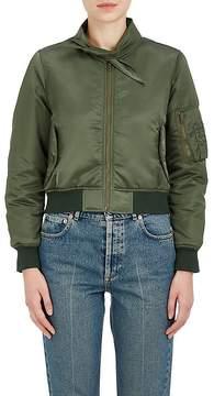 Balenciaga Women's Scarf-Neck Satin Bomber Jacket