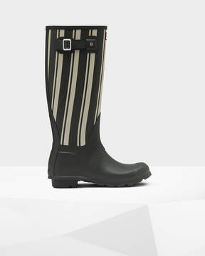 Hunter Women's Original Garden Stripe Tall Rain Boots
