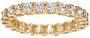 Diamonique As Is Round Eternity Band Ring, 14K Gold