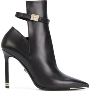 Versace ankle strap boots