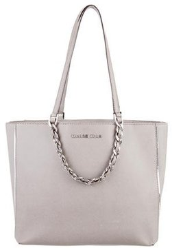 MICHAEL Michael Kors Leather Tote - GREY - STYLE