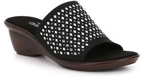 Onex Izzy Studded Leather Slip-On Sandals