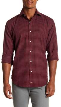 Thomas Dean Gingham Long Sleeve Sport Fit Shirt