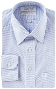 Roundtree & Yorke Gold Label Non-Iron Fitted Point Collar Solid Oxford Dress Shirt