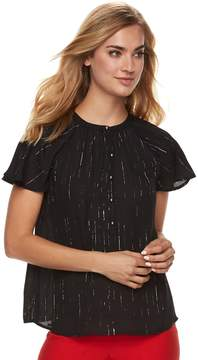 Apt. 9 Women's Flutter Georgette Top