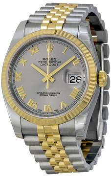 Rolex Oyster Perpetual Datejust 36 Grey Dial Stainless Steel and 18K Yellow Gold Jubilee Bracelet Automatic Men's Watch