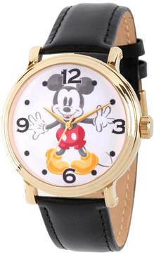 Disney Mickey Mouse Mens Black Strap Watch-Wds000337