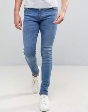 Pull&Bear Super Skinny Jeans In Stone Wash Blue
