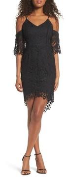 Adelyn Rae Women's Krista Cold Shoulder Lace Sheath Dress