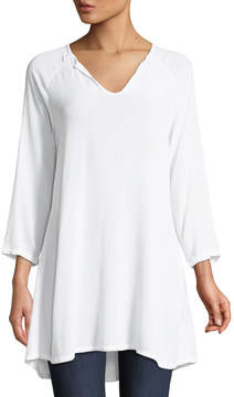 Allen Allen 3/4 Sleeve V-Neck Tunic